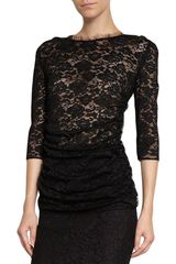 Dolce & Gabbana Threequarter Sleeve Lace Top - Lyst