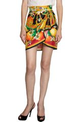 Dolce & Gabbana Decorative Floral Print Skirt in Multicolor - Lyst