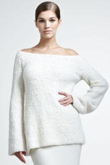 Donna Karan New York Wool Cashmere Boucle Pullover - Lyst