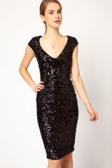 French Connection Sequin Midi Dress - Lyst