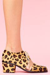 Nasty Gal Split Brogue Boot Leopard Pony - Lyst