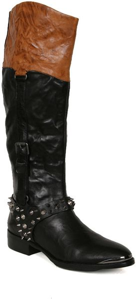 Sam Edelman Park Boot in Black Saddle - Lyst