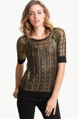 Sanctuary Noir Metallic Lace Tee - Lyst