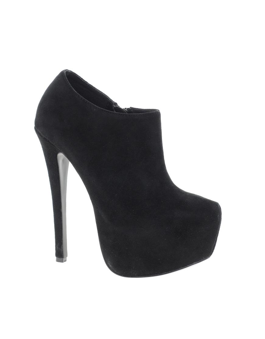 1b1c8bfea799 Steve Madden Vippper Black Shoe Boots in Black - Lyst