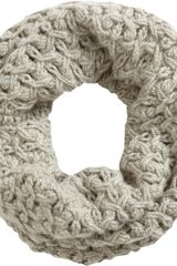 Barneys New York Net Stitch Cowl Scarf in Beige (oatmeal) - Lyst