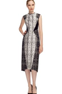 Bibhu Mohapatra Filigree Print Waist Inset Dress - Lyst