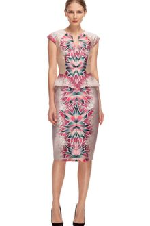 Bibhu Mohapatra Coral Morph Print Day Dress - Lyst