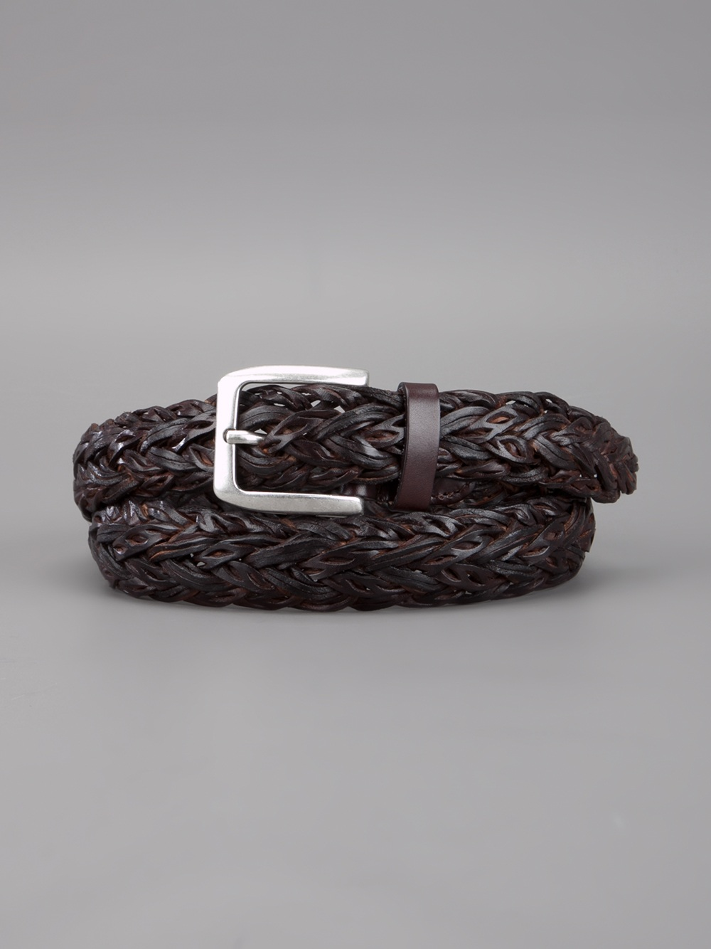 d amico braided belt in brown for lyst