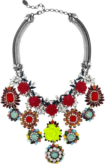 Erickson Beamon I Never Promised You A Rose Garden Goldplated Swarovski Crystal Necklace - Lyst