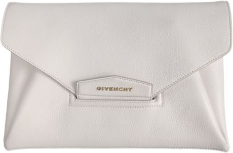 Givenchy Antigona Envelope Clutch in White - Lyst