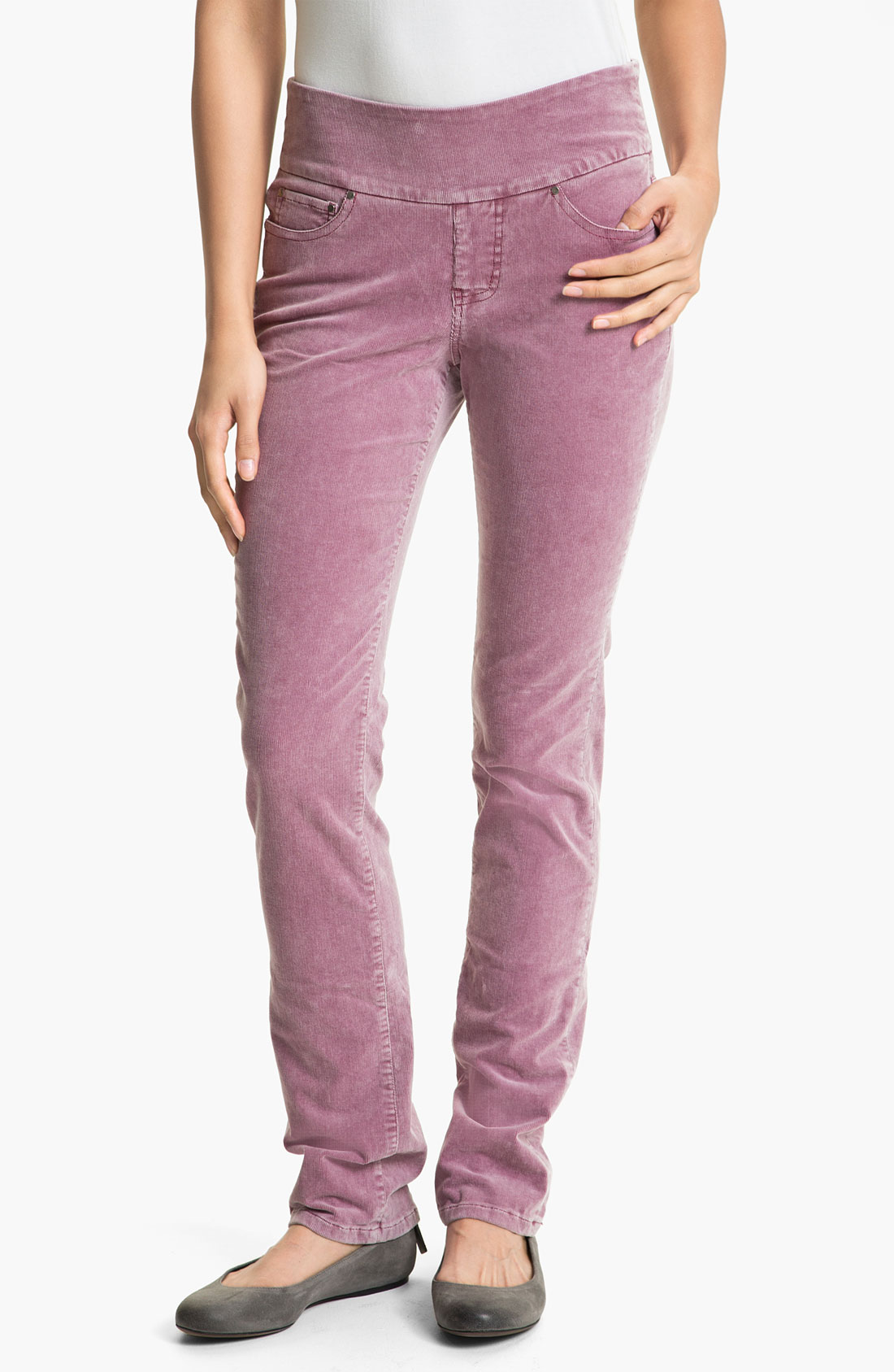 Jag Jeans Peri Straight Leg Corduroy Pants In Pink Dark