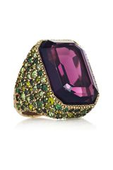 Kenneth Jay Lane 22karat Goldplated Swarovski Crystal Ring - Lyst