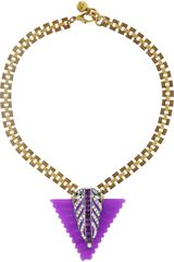 Lulu Frost Goldtone Crystal and Resin Necklace - Lyst