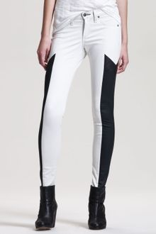 Rag & Bone Grand Prix Paneled Leggings Winter White - Lyst