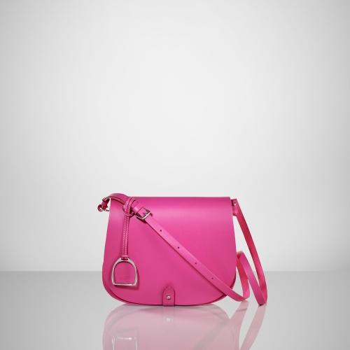Lyst - Ralph Lauren Equestrian Vachetta Saddle Bag in Pink b84420db2e