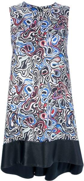 Balenciaga Abstract Dress in Multicolor (multicolour)