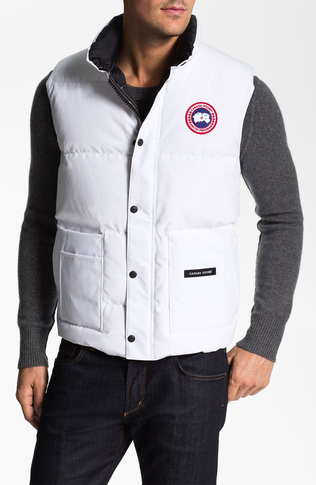 Canada Goose Freestyle Vest In White For Men Lyst