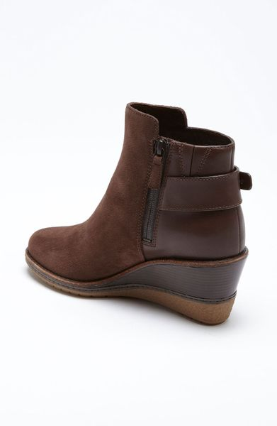 cole haan rayna ankle boot in brown chestnut suede lyst