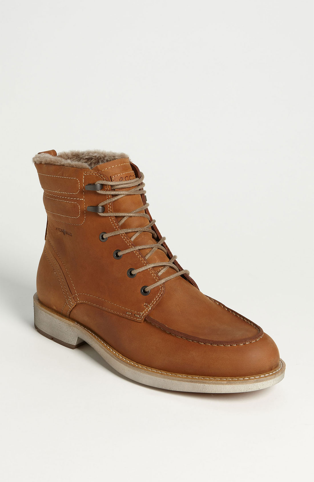 ecco bendix moc toe boot in brown for lyst