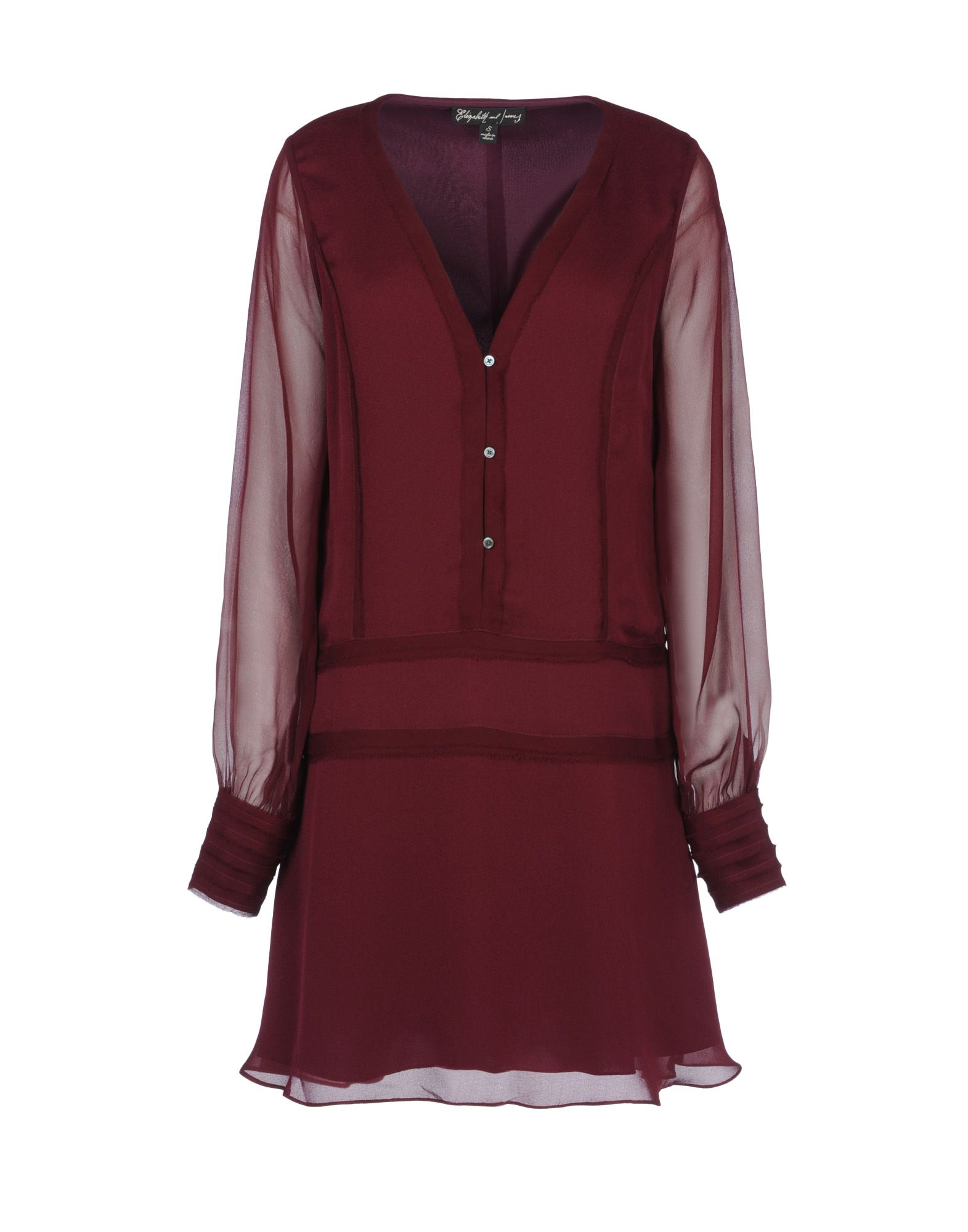 elizabeth and james short dress in red maroon lyst. Black Bedroom Furniture Sets. Home Design Ideas