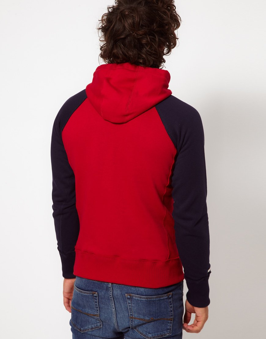 Lyst G Star Raw Hoodie With Logo In Red For Men