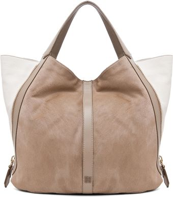 Givenchy Large Tinhan Pony Front Shopper in Mastic White - Lyst