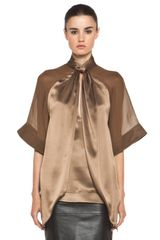 Givenchy Satin Tie Neck Blouse in Multi in Multicolor (multi) - Lyst