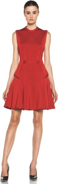 Givenchy Sleeveless Dress in Red in Red