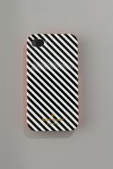 Kate Spade Diagonal Stripe Iphone 4 Hard Case - Lyst