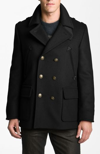 Marc By Marc Jacobs Leo Double Breasted Peacoat - Lyst