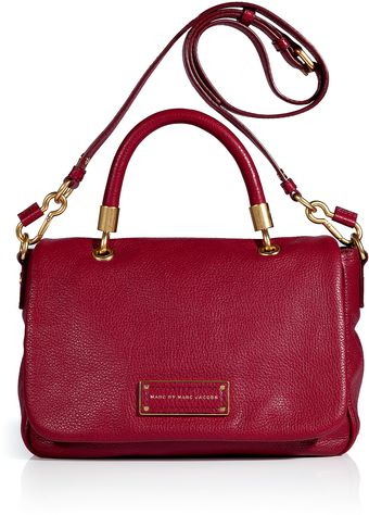 Marc By Marc Jacobs Lipstick Red Leather Too Hot To Handle Small Top Handle Satchel - Lyst