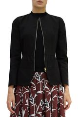 Marni Peplum Collarless Jacket - Lyst