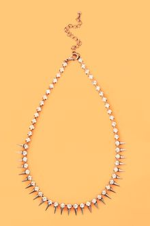 Nasty Gal Crystal Spike Necklace - Lyst
