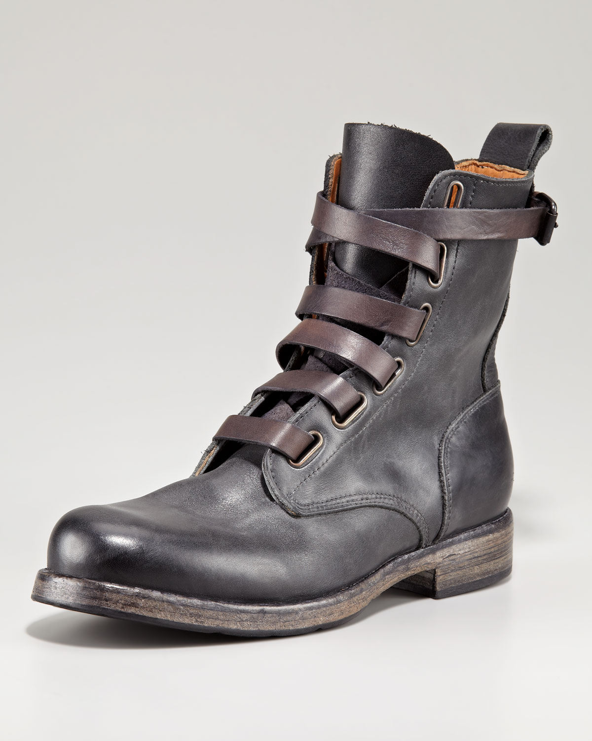 true religion alternative laceup boot in black for lyst