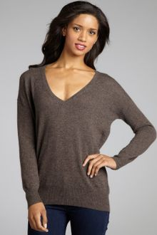 Autumn Cashmere Cashmere V-Neck Boyfriend Sweater - Lyst