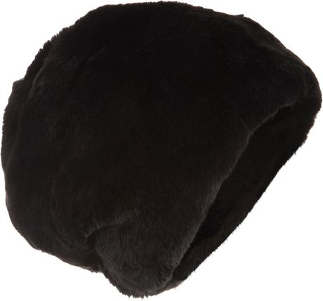 Barneys New York Fur Sock Hat in Black - Lyst