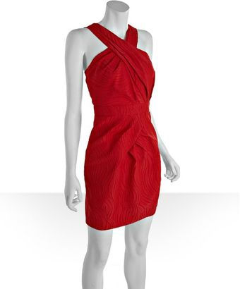 Cynthia Steffe Cherry Tomato Cotton Blend Patrice Swirl Sleeveless Dress - Lyst
