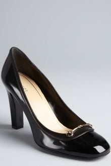 Gucci Patent Leather Betsy Horsebit Detail Pumps - Lyst