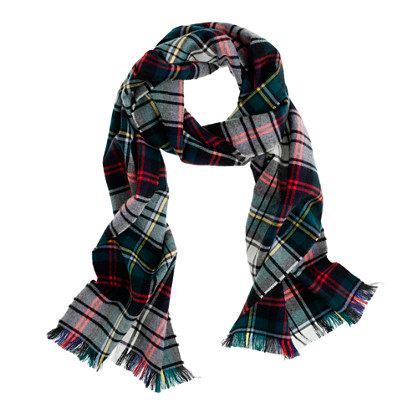 wool plaid scarf in multicolor for men festive. Black Bedroom Furniture Sets. Home Design Ideas