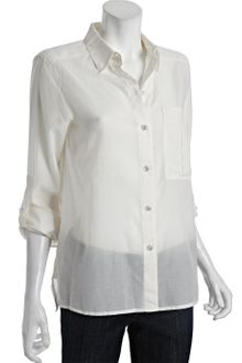 Marc By Marc Jacobs  Cotton Silk Rex Button Front Blouse - Lyst
