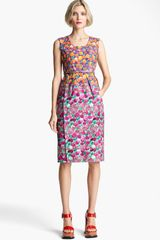 Marc Jacobs Bicolor Flower Print Dress - Lyst