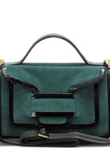 Pierre Hardy Suede Shoulder Bag with Patent Leather Trim - Lyst