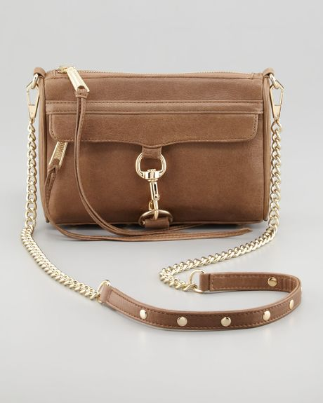 Rebecca Minkoff Mini Mac Crossbody Bag Taupe in Brown (taupe)
