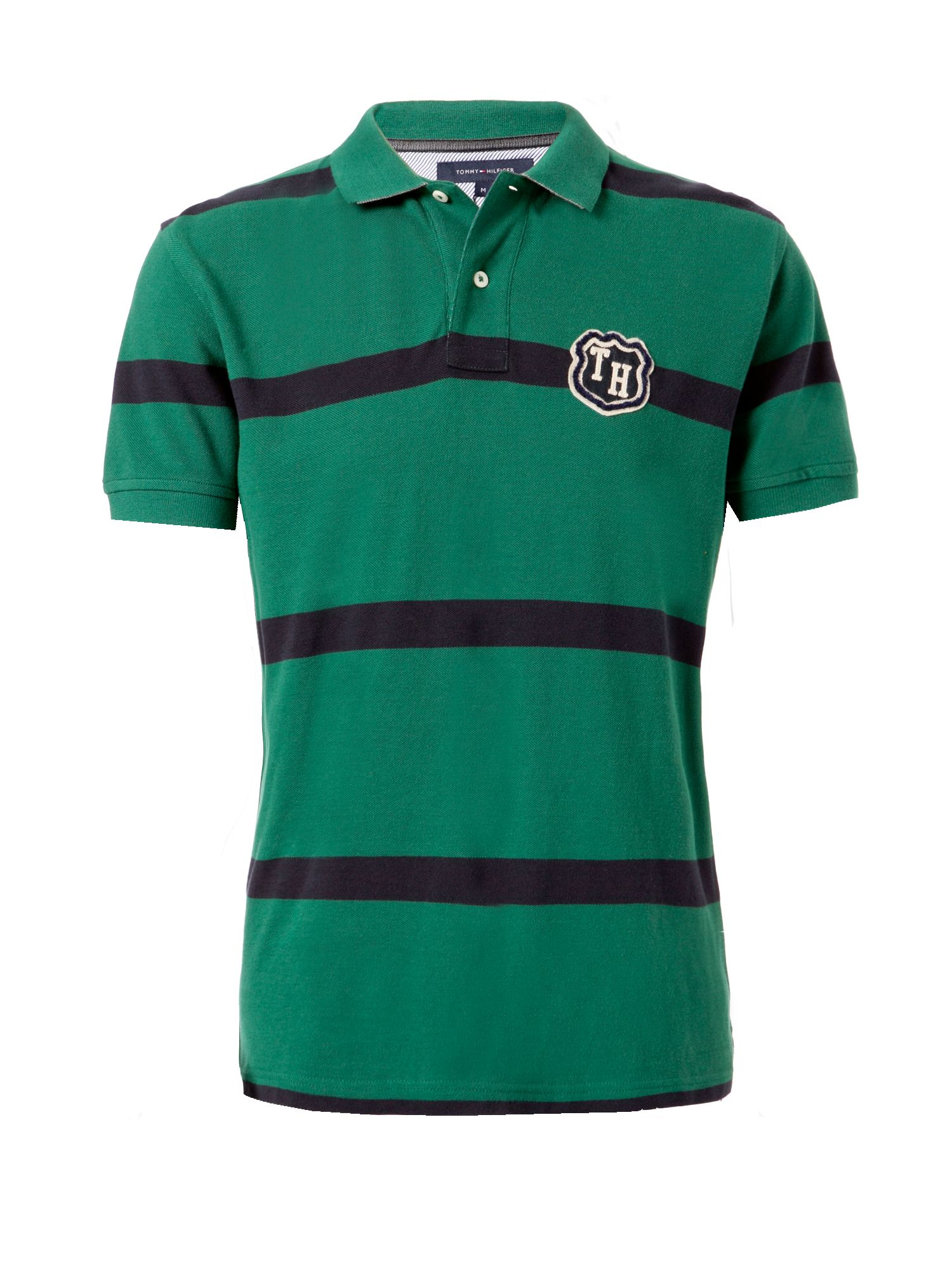 tommy hilfiger adam stripe polo shirt in green for men lyst. Black Bedroom Furniture Sets. Home Design Ideas