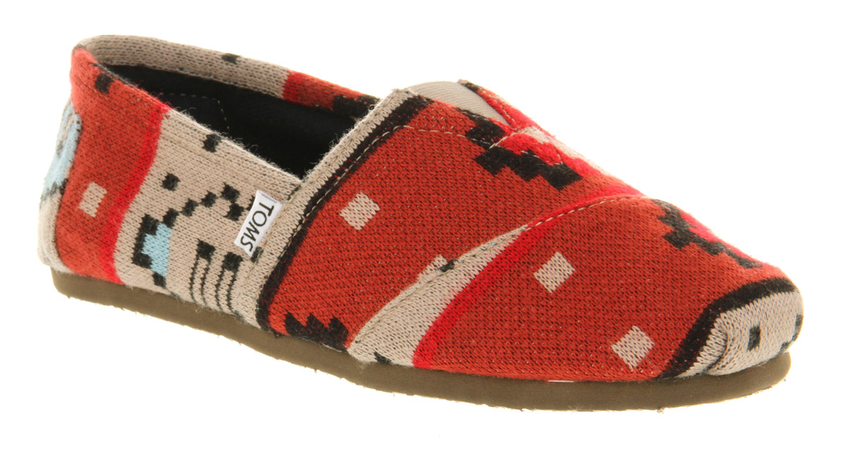 3136f53557a Lyst - TOMS Toms Classic Red Sand Knit in Red for Men