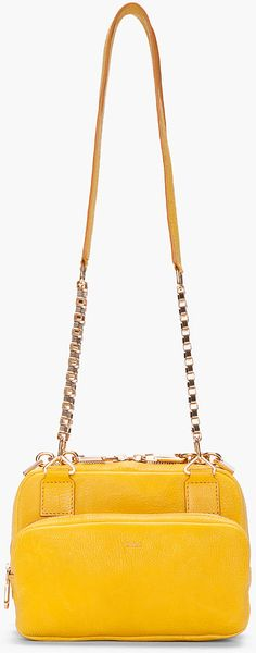 Chloé Yellow Venetian Chain Lucy Bag - Lyst