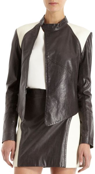 Maiyet Color Block Leather Jacket - Lyst