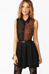 Nasty Gal Wild Side Blouse  - Lyst