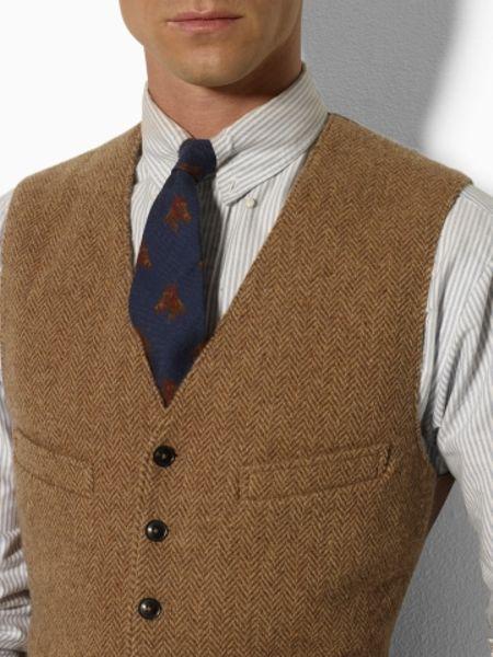 Polo Ralph Lauren Hillsdale Tweed Vest in Green for Men