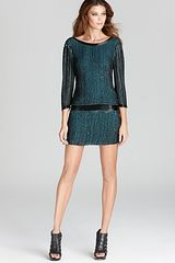 Parker Sequin Dress Open Back Stripe - Lyst